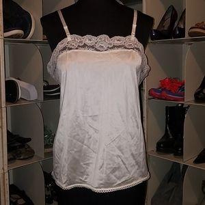 White Cami slip top size medium